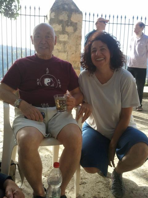 אני עם מאסטר פונג-אה בסדנא בעין כרם